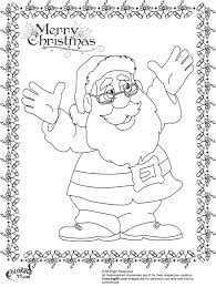 Santa Claus Reindeer Coloring Pages With Printable Coloring Page