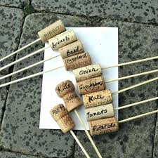 garden labels. Garden Plant Labels Cork Row And If Drinking This Much Wine You Botanical .