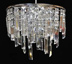 crystal waterfall glass easy fit pendant light shade house of fraser linea home