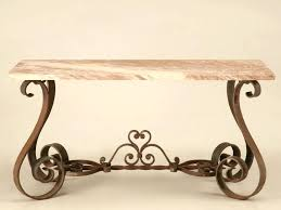 Stone Top Console Table Marble And Wrought Iron Furniture
