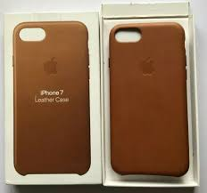 genuine apple leather case for iphone 7 saddle brown for
