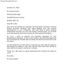 Apology Letter To Boss Cool Awesome Collection Of Sample Business Thank You Letter For Attending