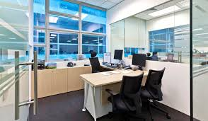office room interior. Office Director Room Interior Design With Wall Glasses