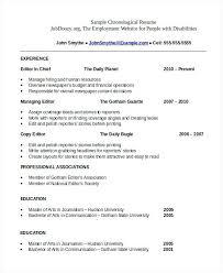 Chronological Resume Example Enchanting Sample Chronological Resume Fresh Chronological Resume Sample