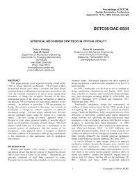 Mechanism Design Erdman Pdf Pdf Spherical Mechanism Synthesis In Virtual Reality