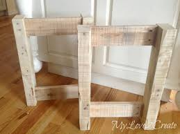pallet bench ends made with pocket holes