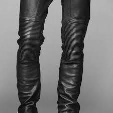 h m pants women h m black leather biker pants