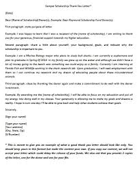 Scholarship Thank You Letter Sample Download Scholarship Thank You Letter Templates Samples WikiDownload 7