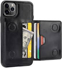 Amazon.com: KIHUWEY iPhone 11 Pro Max Wallet Case Credit Card Holder,  Premium Leather Kickstand Durable Shockproof Protective Cover iPhone 11 Pro  Max 6.5 Inch(Black)