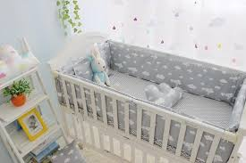 l clouds newborn baby cot bedding comfortable baby boy crib bedding set baby bed liner cot