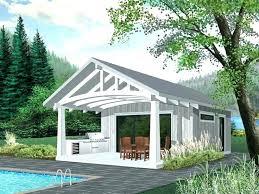 cabana kits pool house or plan with outdoor kitchen shed sheds nj prefab cabanas custom kit