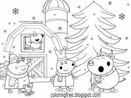 Peppa pig's grandfather takes his beloved granddaughter and all her friends to ride a train. Cute Kids Simple Drawing Winter Farm Rabbit And Bull Peppa Pig Christmas Colouring Pages T Peppa Pig Coloring Pages Christmas Coloring Printables Rabbit Colors