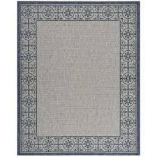 country side ivory blue 8 ft x 11 ft indoor outdoor area rug