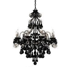 charming and beautiful crystal black chandelier design ideas with schonbek cappela 9 light black chandelier