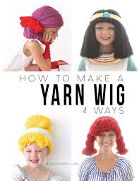 4 easy yarn wigs with endless costume options all your wig making needs