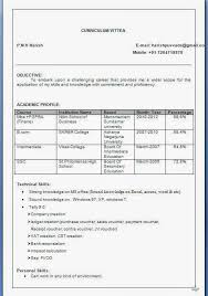 Mesmerizing Resume For Icici Bank Po 18 In Resume Template Microsoft Word  With Resume For Icici