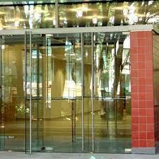 doors featuring herculite glass