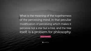 Samuel Alexander Quote What Is The Meaning Of The Togetherness Of