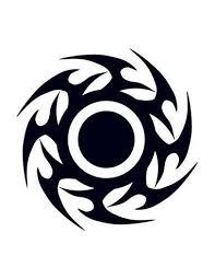 černý Disk Tribal Nalepovací Tetování