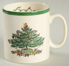 Spode Christmas Tree (Green Trim) Tom & Jerry Mug