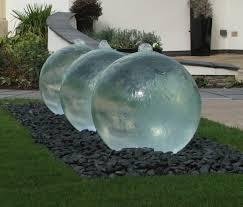 triple glass sphere garden water feature ball water fountain d74