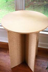 30 inch round decorator table x mdf wood composite
