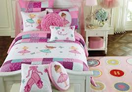 Amazon.com : Toddler Bedding Set Ballerina Quilt Turquoise Purple ... & Toddler Bedding Set Ballerina Quilt Turquoise Purple Pink Cotton, Embroider  Girl Bedding Twin Quilt Adamdwight.com