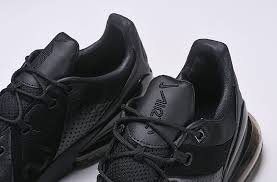 various styles nike air max 270 premium leather all black ao8283 010 trainer men s running shoe