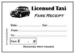London Taxi Receipt Pdf Black Cab Or Licensed Taxi Fare Receipt Pads Pack Of 4 X 100 Sheet