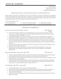 Junior Buyer Resume Sample Junior buyer resume sample impression depict merchandise planner and 1