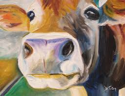 curious cow painting curious cow by donna tuten
