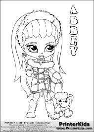 28 Collection Of Monster High Coloring Pages Baby Quality