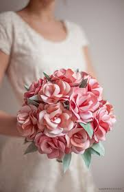 Diy Paper Flower Tutorials How To Make A Paper Rose Wedding Bouquet Lia Griffith