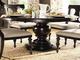 simple yet classy round dining table design black wooden round dining table with glass teapot
