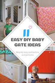 20 diy baby gate ideas for stairs and hallway