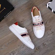 gucci jacquard stripe elastic red metallic leather detail white calfskin leather sneakers for mens 523469 0fiv0 9091