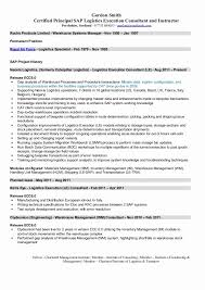 Sap Mm Support Consultant Resume Classic Erp Functional Consultant