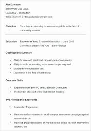 Resume For College Students Impressive Types Of Resumes For College Students Lovely Resume Objective For