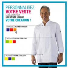 Vestes De Cuisine Broderie Et Frais De Port Offert Label Blouse