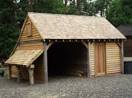 oak framed out building