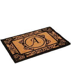 rugs doormats rug runners area for the home qvc round outdoor monogram initial coir doormat budget