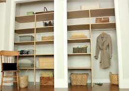 image of building shelves inside a closet