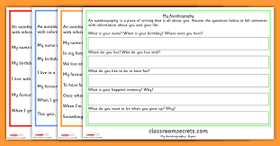 Year 1 Autobiography Writing Prompt Differentiated Worksheets ...