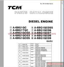tcm diesel engine a 6bg1 series isuzu parts catalog auto repair more the random threads same category