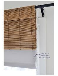 bamboo window blinds. Bamboo Blind Valance \u0026 Room Darkening Shade, With Curtains - On A Budget Window Blinds