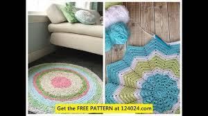 crochet rug pattern crochet bathroom rug crocheted rag rug tutorial you