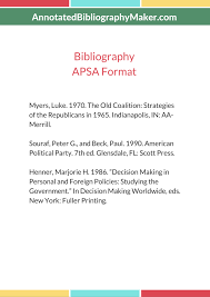 Great Apsa Citation Style For Political Science