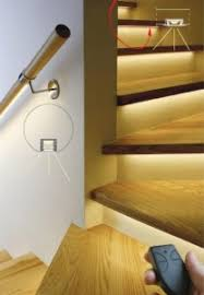 Staircase led lighting Open Stairwell Klus Introducing Adjustable Led Stair Lighting Strips