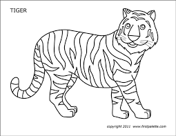 Download and print these tiger free coloring pages for free. Tiger Free Printable Templates Coloring Pages Firstpalette Com