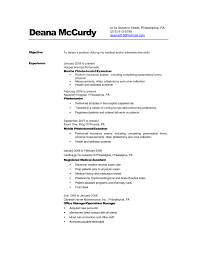 Phlebotomy Resume Examples Of Resumes Technician Experienced